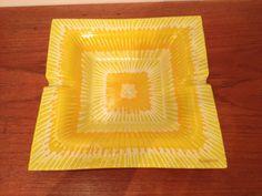 Fused Art Glass Ashtray Higgens USA