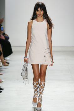 Rebecca Minkoff | Spring 2016 Ready-to-Wear | 06 White sleeveless mini dress