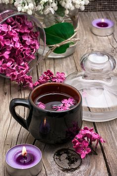 fragrant tea and a branch of lilac by Mykola Lunov on 500px