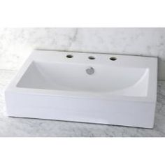 @Overstock - The rectangular-shaped vessel bathroom sink is crafted from vitreous china that is baked at high temperatures so the surface is stain-resistant, germ-resistant and easy to clean. Update your bathroom decor with this unique sink.http://www.overstock.com/Home-Garden/Vitreous-China-White-Rectangular-Vessel-Bathroom-Sink/6535428/product.html?CID=214117 $135.99