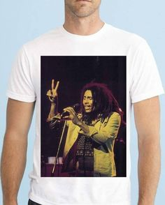 Bob Marley, Stage, Celebrities, Music, Instagram Posts, Clothing, Mens Tops, T Shirt, Products