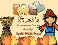 Fall FREEBIE - Sorting, Graphing & Patterning