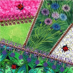 I LOVE these Crazy Quilt blocks stitched in the hoop!