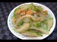 節瓜粉絲蝦米 Fuzzy melon with dried shrimp and vermicelli - YouTube