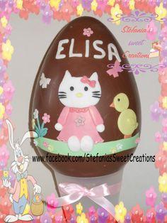 easter chocolate egg uovo di cioccolato decorato con pdz