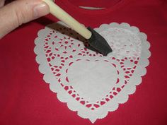 Adoily-able Valentines Day Shirt for Claire. looks easy!