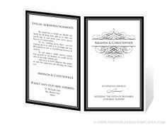 Wedding Program Template Instant Download $14.95