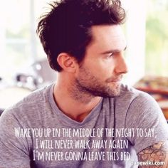 Lyric Art of Never Gonna Leave This Bed [Acoustic] by Maroon 5