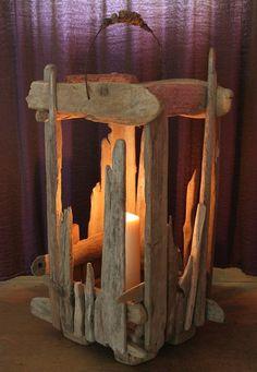driftwood lantern  https://www.facebook.com/juliasdriftwood