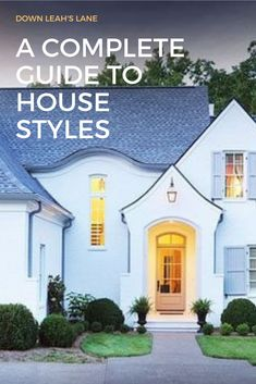 17 amazing house styles to give you a complete guide to finding your house style. Every wonder what your style is? I've compiled 17 traditional, modern, trendy and classic house styles together for you to figure out which is your favorite. Classic House Exterior, French Country Exterior, Rustic Houses Exterior, Craftsman Exterior, Modern Farmhouse Exterior, Modern Farmhouse Kitchens, Farmhouse Contemporary, Craftsman Farmhouse, Types Of Houses Styles