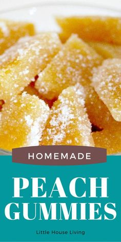 "Looking for a sweet little afternoon snack? These Peach Gummies are a tasty little treat. Add one extra ingredient and you've got the same ""Peachy O's"" like you'd find in the candy aisle at the store! Homemade Desserts, Great Desserts, Party Desserts, Delicious Desserts, Dessert Recipes, Recipes Using Fruit, Fruit Smoothie Recipes, Easy Smoothies, Hot Fudge Cake"