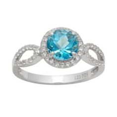 Zales 10.0mm Cushion-Cut Lab-Created Blue Sapphire Three Stone Ring in Sterling Silver 61I65iku