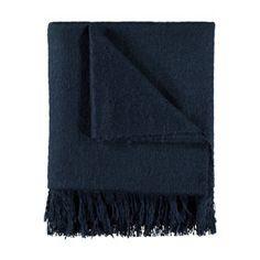 Thredbo Faux Mohair Throw - Navy Mohair Throw, Croydon, Towel, Stuff To Buy, Style, Navy, Ikea, Bedroom, Swag