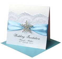 Invitations for a Winter themed wedding -- possible DIY