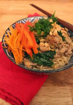 ... weeknight dinner: Spicy Sichuan Noodles with Turkey, Kale and Peanuts