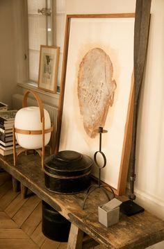 More interior inspiration on www.ringthebelle.com home / interieur / inspiration / lyon / Maison Hand / decoration / lampe / banc / dessins / #ringthebelle / #storystore / #maisonhand