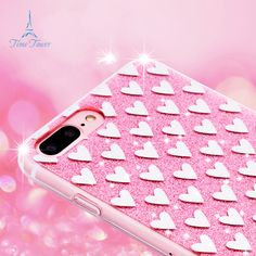 Back cover for Apple iphone 7 TPU case Bling Heart-shaped Silicone Love painted case for iphone 7 case