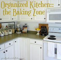 Organized space of the week... Kitchen The Baking Zone | A Bowl Full of Lemons