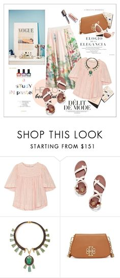 """A study in pastels"" by amaryllis ❤ liked on Polyvore featuring Garance Doré, Étoile Isabel Marant, Tory Burch and Balmain"