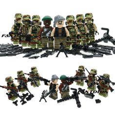 8pcs/lot Army military soldiers with weapons and guns building blocks kids Communication and learning toys : SHOP
