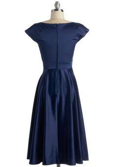 Stop Staring! Pine All Mine Dress in Midnight | Mod Retro Vintage Dresses | ModCloth.com