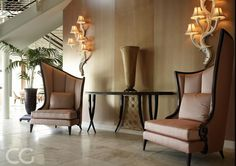Make a statement in your reception space or entrance with these elegant channel back chairs. Discover Courbure: http://bit.ly/1pJt1At Courbure will be available at the CG Warehouse Sale 2016 12th May - 14th May 2016