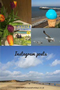 Instagram posts, sharing beautiful images of the Norfolk coastline, seaside treasures, coastal decor, Norfolk food and lots more. Immerse yourself in the Norfolk seaside.