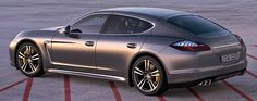 The Panamera Turbo S is a four-door that is powered by a 4.8-liter V-8 with twin turbochargers.  A 4.8-liter V-8 with twin turbochargers (550 horsepower, 553 pound-feet of torque; 590 pound-feet with overboost) with a 7-speed Porsche Doppelkupplung automated sequential manual transmission and all-wheel drive.
