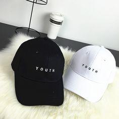 "wholesale 2016 Fashion Cap Women Men Summer Spring Cotton Casquette Letter ""Youth"" Solid Adult baseball Cap Black Drake Hat Snapback Cap|32b14aef-0178-47dc-87fb-60b1c80b8edf|Baseball Caps"