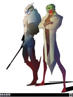 Garrus and Thane by TheBabman.deviantart.com #MassEffect