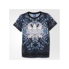 adidas Romantic Woods Tee ($40) ❤ liked on Polyvore featuring tops, t-shirts, red, adidas t shirt, relax t shirt, red floral top, floral print t shirt und red t shirt