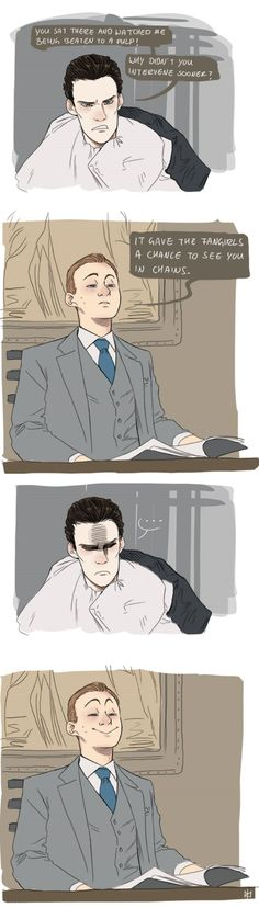 Mycroft knows what's at.
