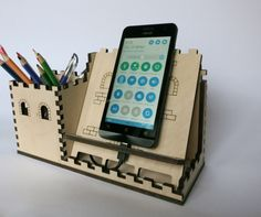 charging station organizer, tablet stand,  PROMO PRICE, wood desk organizer, pencil holder and docking station, phone holder