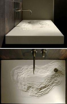 erosion waschbecken im bad schwarz design spüle