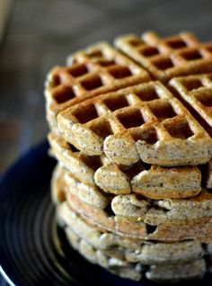 Whole Grain Flax Seed Waffles