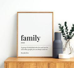 Family Definition Printable Art, Family Quote Print, Entrance Wall Art, Living Room Wall Art Decor, Family Print *INSTANT DOWNLOAD* Father Quotes, Family Quotes, Printing Websites, Online Printing, Printable Quotes, Printable Wall Art, Family Definition, Father Definition, Travel Wall Art