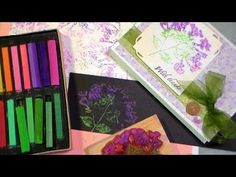 Using chalks to Stamp ..  check out the tutorial the frugal crafters website