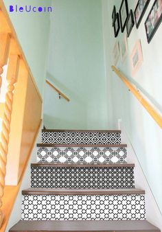 15 Stairs decal : Linear Black & white style  10 by Bleucoin