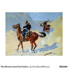 The Advance Guard by Frederic Remington Old West Postcard
