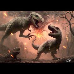 A 6 hour digital painting. #tyrannosaurusrex #trex #rex #dinosaurs #dinosaur #attack #blood #volcano #dctattoo #dctattoo_swe #photoshop #wacom #intuos #intuos4 #digital #digitalart #art #artwork #painting #speedpainting #sullenfanart #digitalpainting #paintmore #freehandalldayeveryday #jurassicpark #jurassicworld