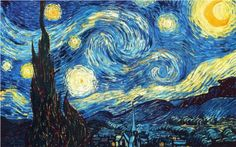 The Starry Night (1889) - Vincent Willem van Gogh (30 March 1853 – 29 July 1890) was a Dutch post-Impressionist painter