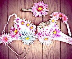 Daisy Carnival Rave Bra by TheLoveShackk on Etsy, $75.00