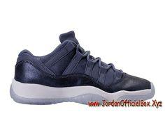 uk availability 292fd 43604 Air Jordan 11 etro GS Blue Moon 580521 408 Chaussures Air Jordan Pour Femme enfant  Bleu