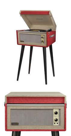 That old California surf record just sounds better coming from the stylish, retro charm of the Santa Monica Turntable. Inspired by turntable design popular in the 1960s, this player is a fun addition t...  Find the Santa Monica Turntable in Red, as seen in the Gifts for Him Collection at http://dotandbo.com/collections/holiday-gift-guide-gifts-for-him?utm_source=pinterest&utm_medium=organic&db_sku=106731