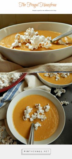 Beer Cheese Soup, Popcorn = Like they make it in Wisconsin, where they know Cheese & Beer! Full of diced vegetables for a chunky soup or blended for a smooth one. This is a serious Beer Cheese soup, made of real soup, not a fakey one!