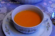 Crema de zanahoria (Thermomix) Receta super fácil en el blog: postresyotrasrecetas.blogspot.com