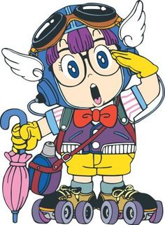 arale, a character from dr. slump, a japanese manga series in early '80s