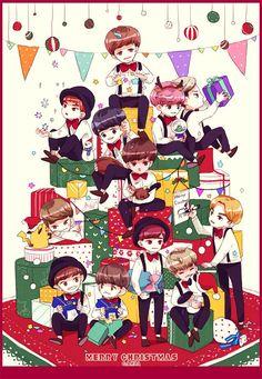 #EXO #fanart #merychristmas