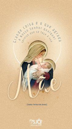 #fé #catolicismo I Love You Mother, Mother Mary, Catholic Religion, Catholic Art, Catholic Wallpaper, Jesus Drawings, Mama Mary, Christian Wallpaper, Jesus Art