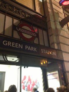 London-Mayfair Green park metro station....